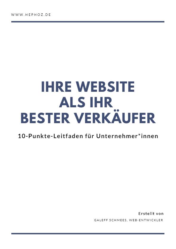 ihre website als ihr bester verkäufer (cover)